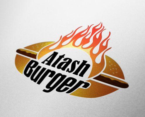 طراحی لوگوی آتش برگر